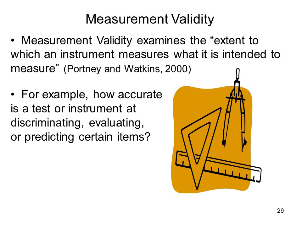 Measurement Validity