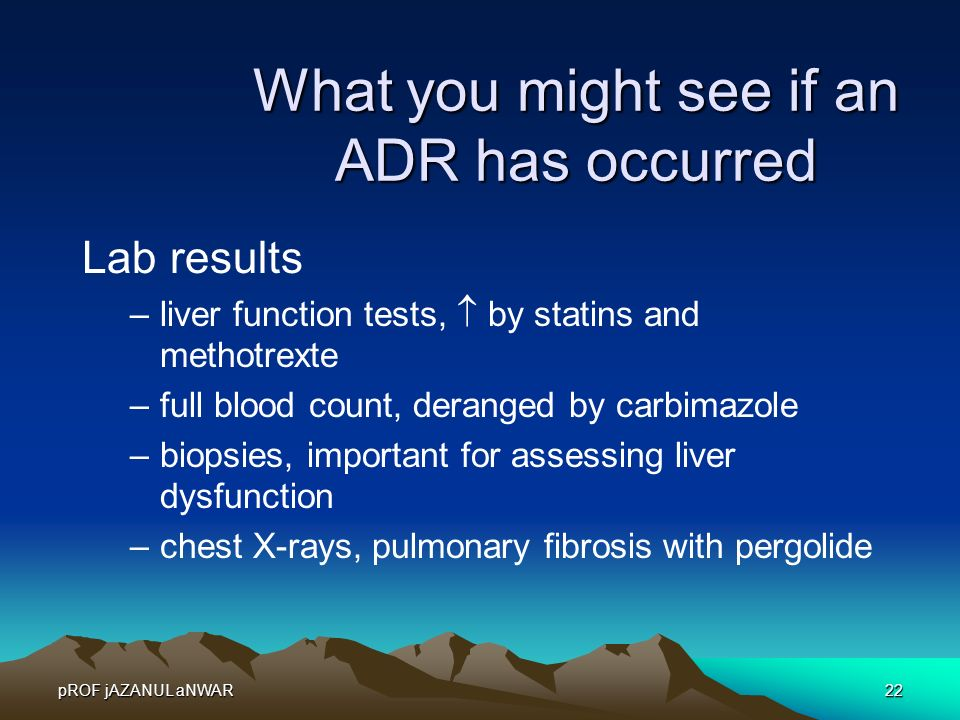 What you might see if an ADR has occurred