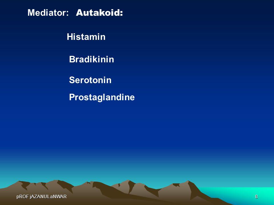 Mediator: Autakoid: Histamin Bradikinin Serotonin Prostaglandine