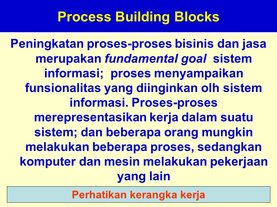 Process Building Blocks