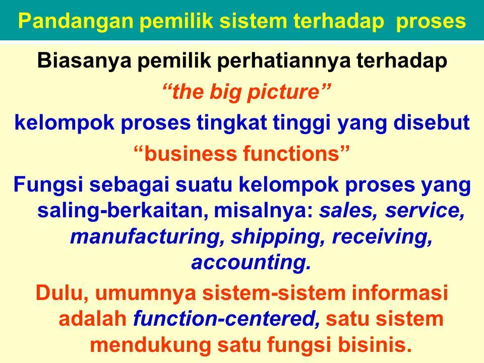 Pandangan pemilik sistem terhadap proses