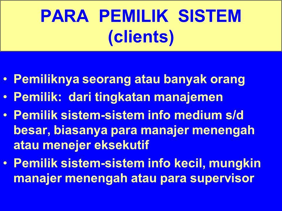PARA PEMILIK SISTEM (clients)