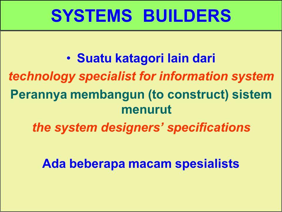 SYSTEMS BUILDERS Suatu katagori lain dari
