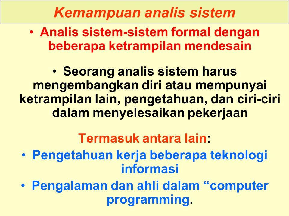Kemampuan analis sistem