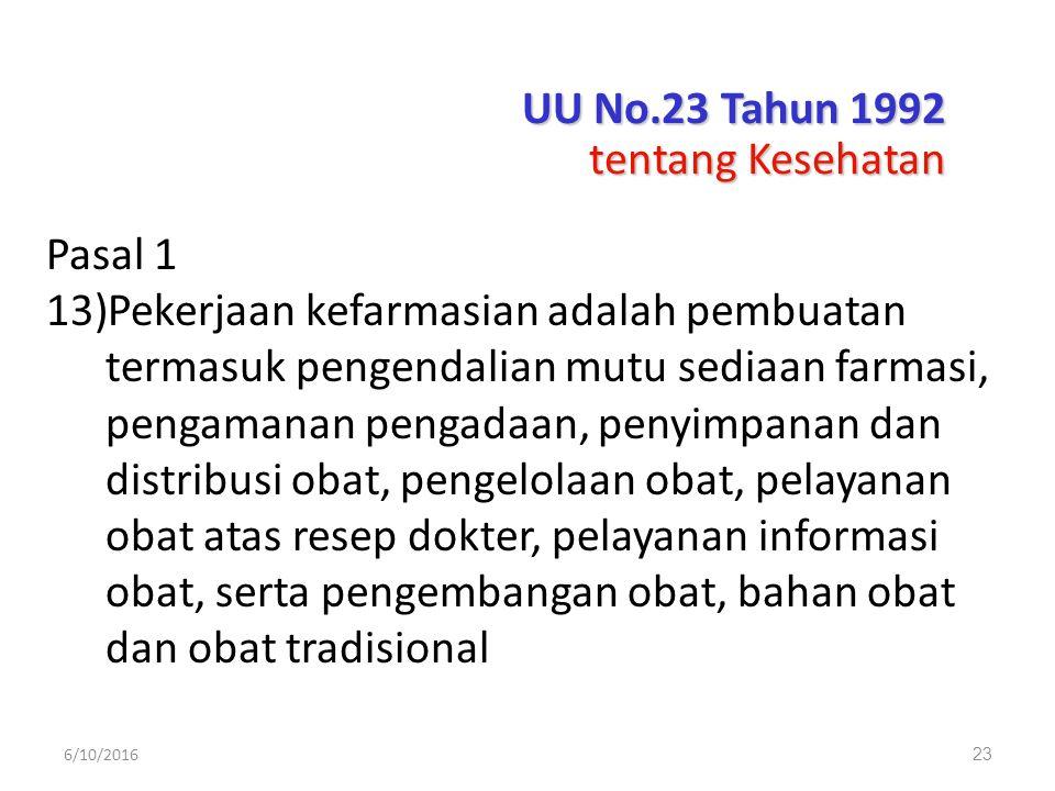 UU No.23 Tahun 1992 tentang Kesehatan