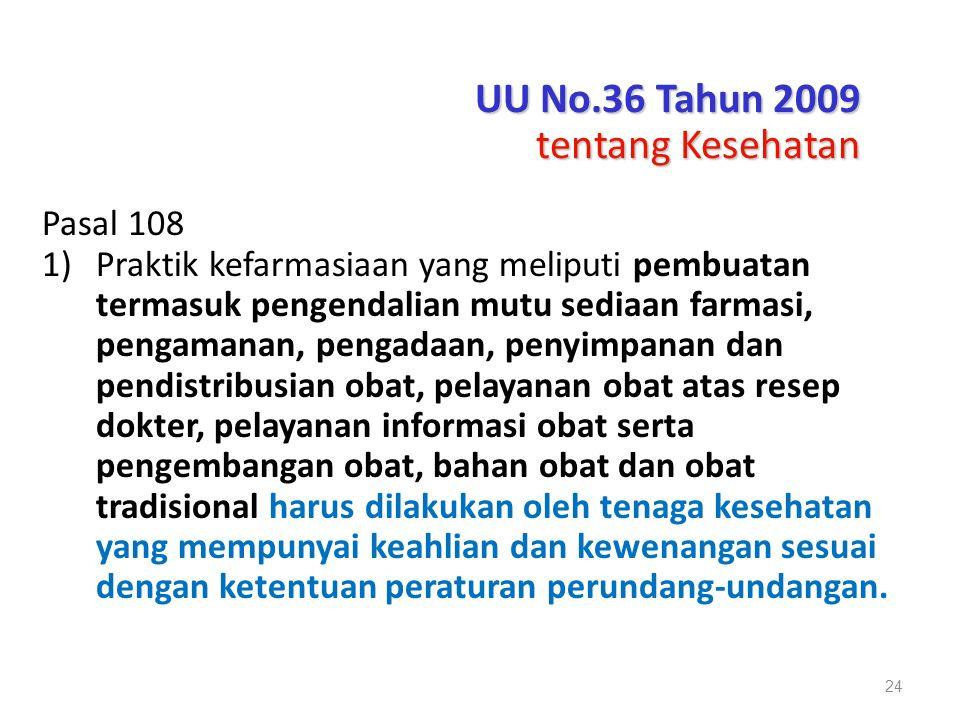 UU No.36 Tahun 2009 tentang Kesehatan