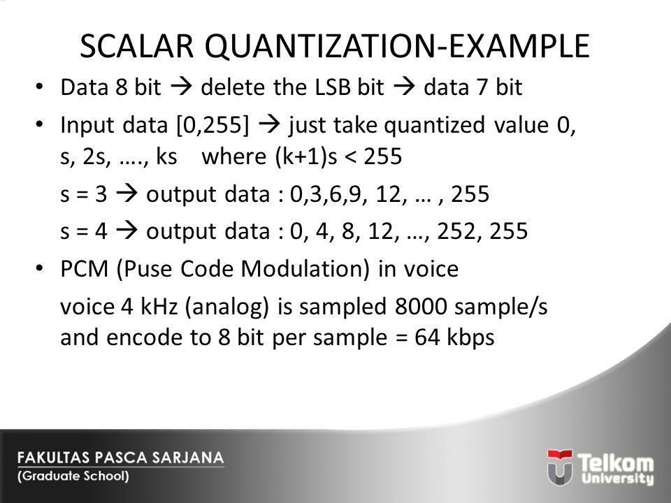 SCALAR QUANTIZATION-EXAMPLE