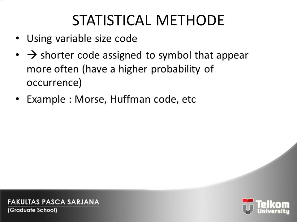 STATISTICAL METHODE Using variable size code