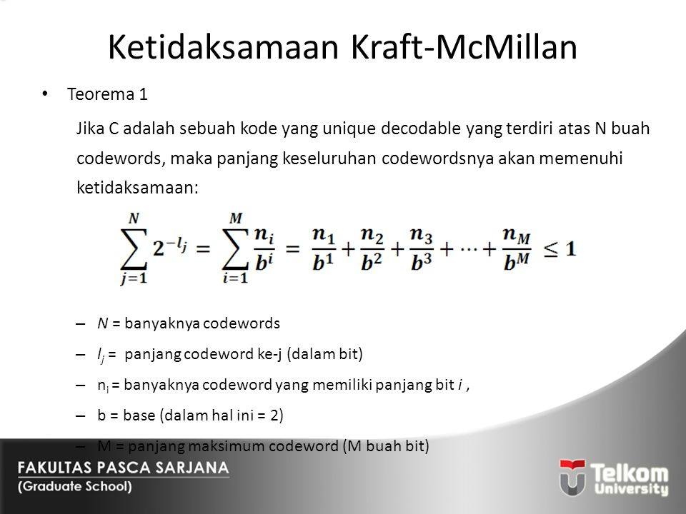 Ketidaksamaan Kraft-McMillan