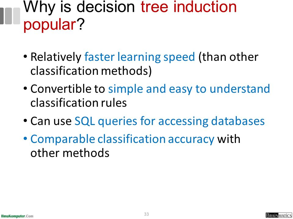 Why is decision tree induction popular