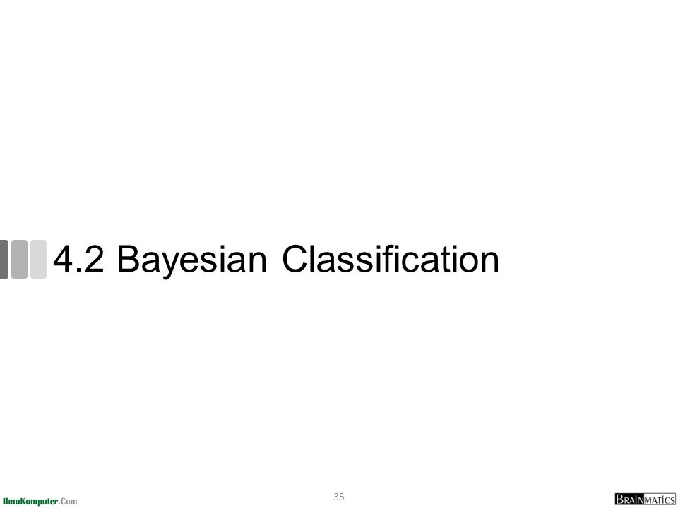 4.2 Bayesian Classification