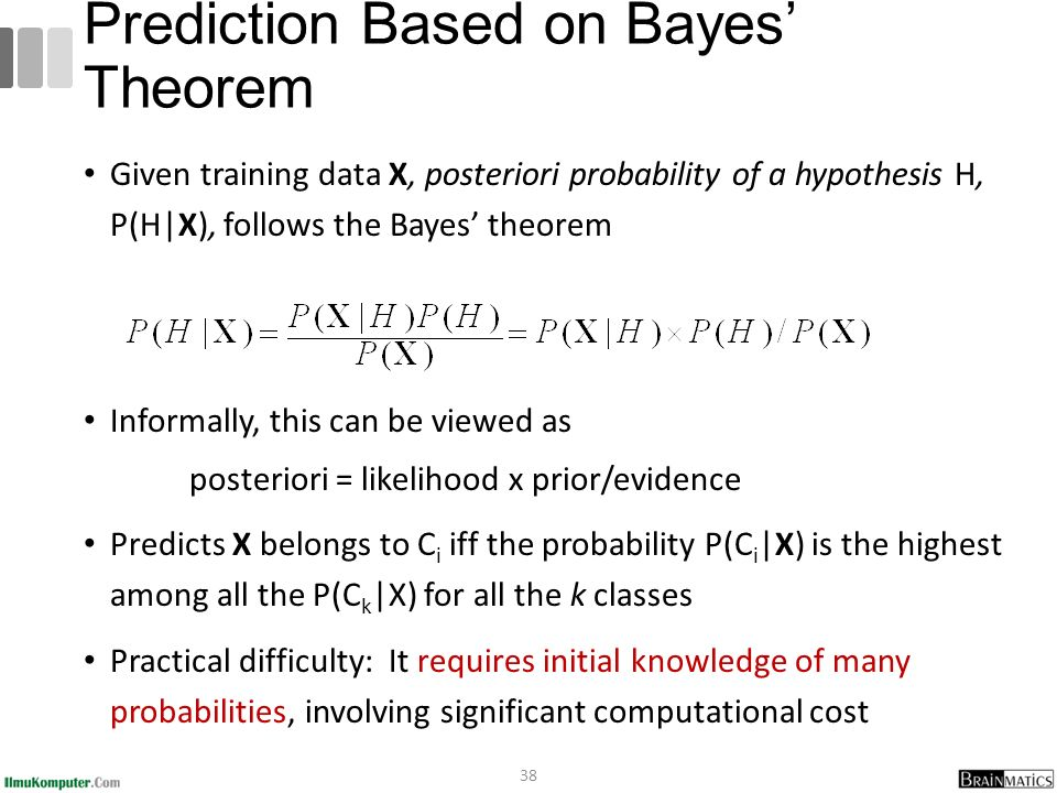 Prediction Based on Bayes' Theorem
