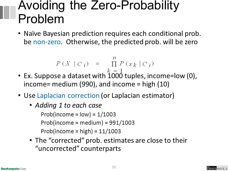 Avoiding the Zero-Probability Problem