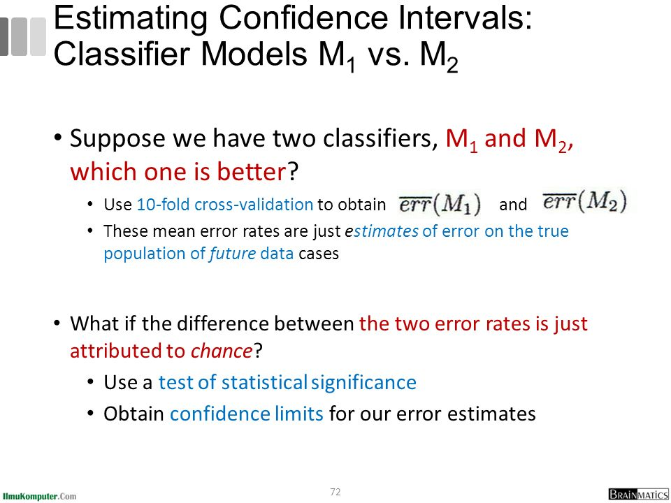 Estimating Confidence Intervals: Classifier Models M1 vs. M2