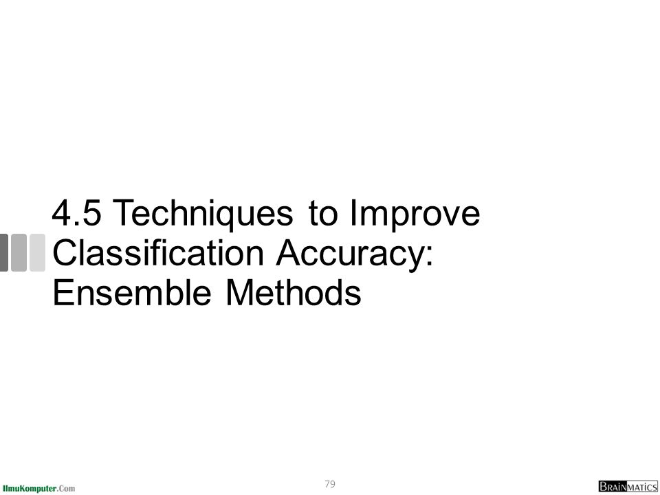 4.5 Techniques to Improve Classification Accuracy: Ensemble Methods