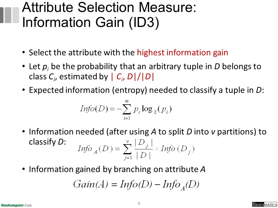 Attribute Selection Measure: Information Gain (ID3)