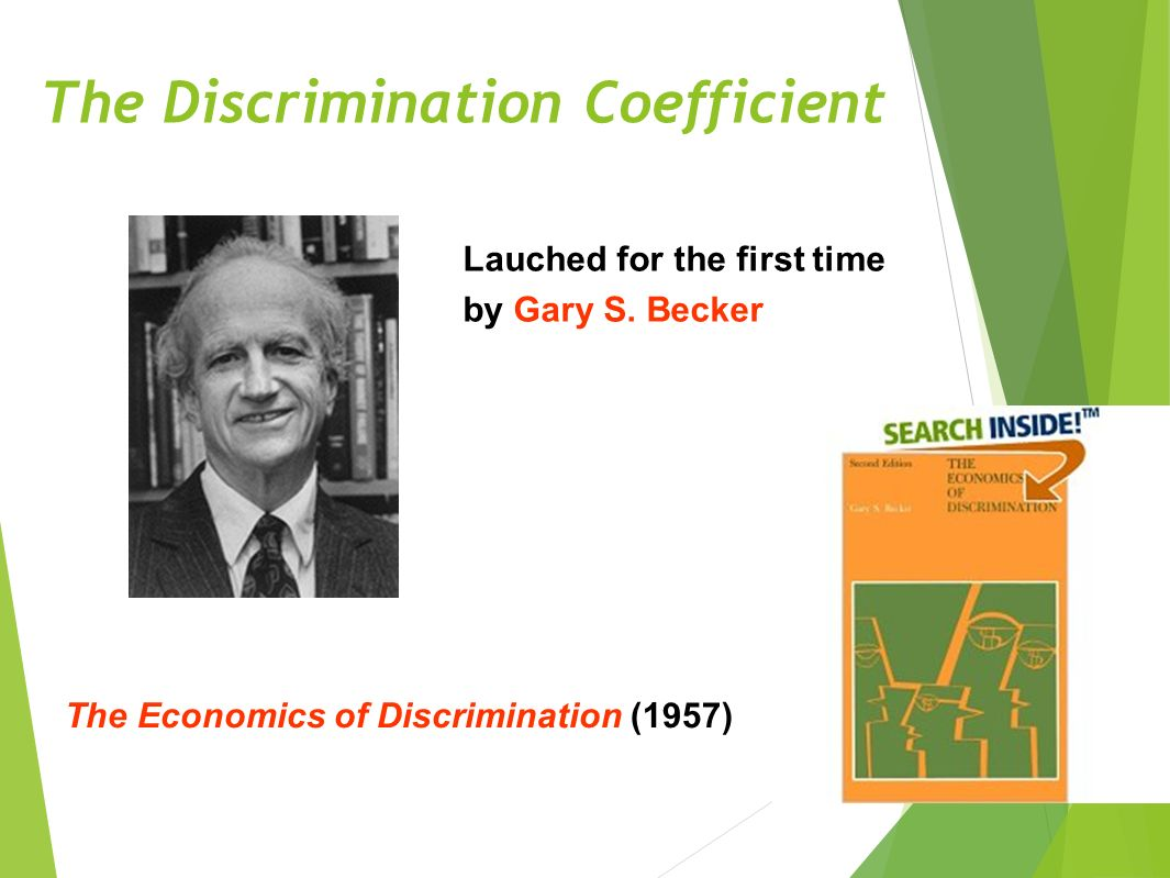 The Discrimination Coefficient