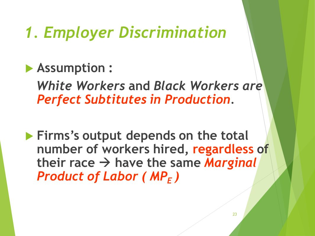 1. Employer Discrimination