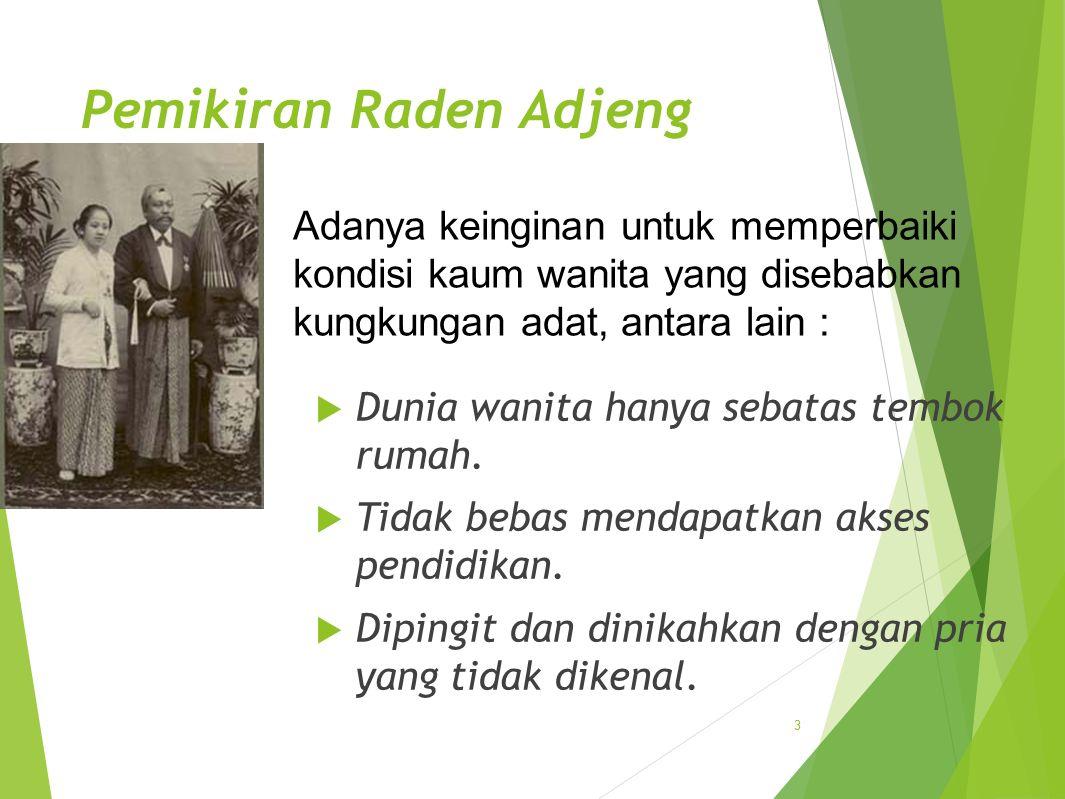Pemikiran Raden Adjeng Kartini