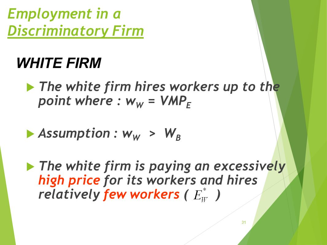 Employment in a Discriminatory Firm