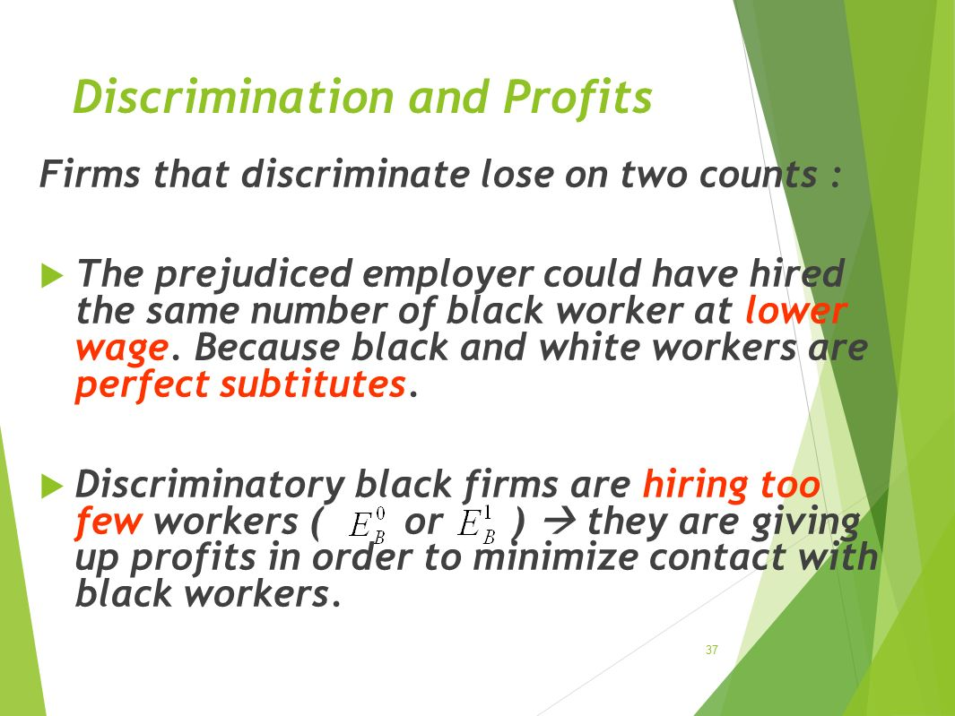 Discrimination and Profits