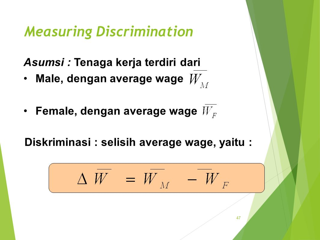 Measuring Discrimination