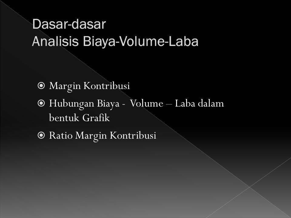 Dasar-dasar Analisis Biaya-Volume-Laba