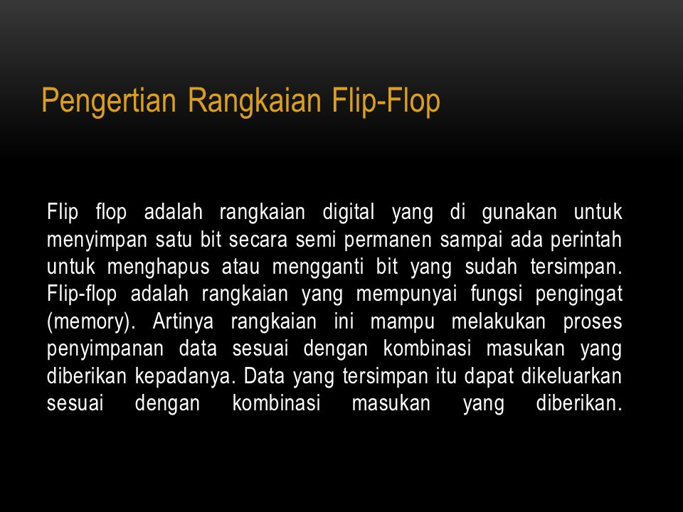 Pengertian Rangkaian Flip-Flop