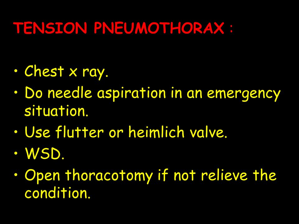 TENSION PNEUMOTHORAX :