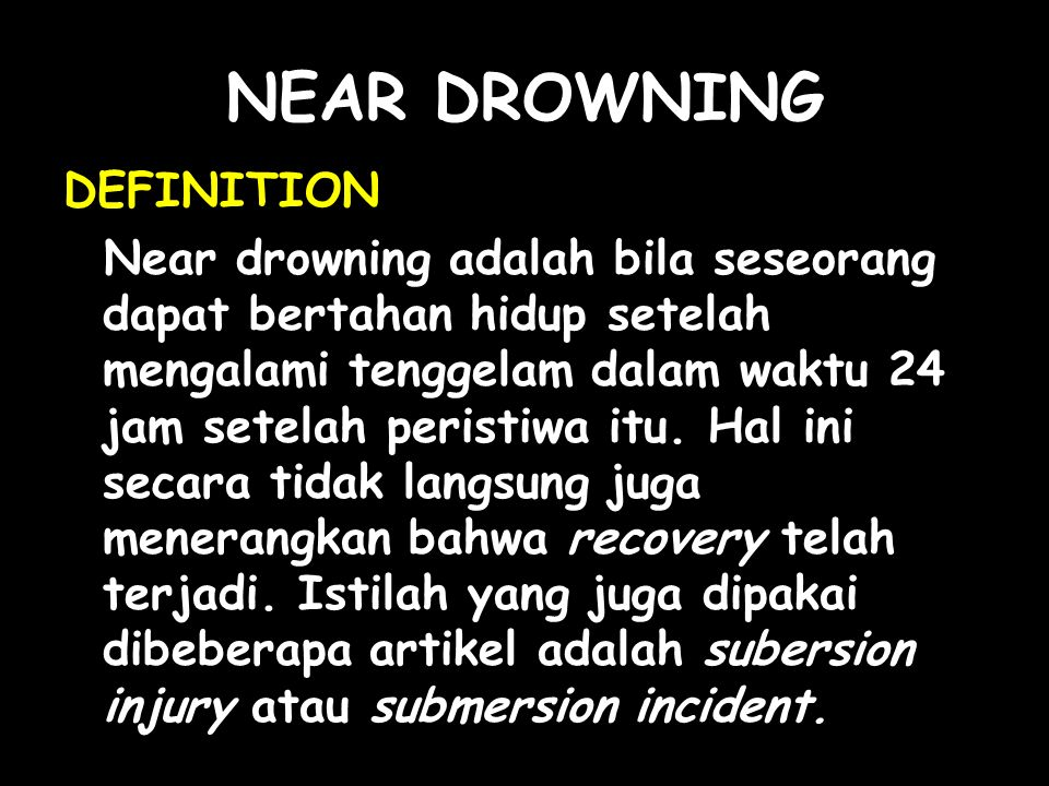 NEAR DROWNING DEFINITION