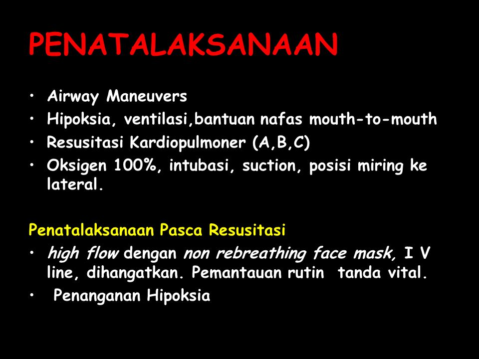 PENATALAKSANAAN Airway Maneuvers