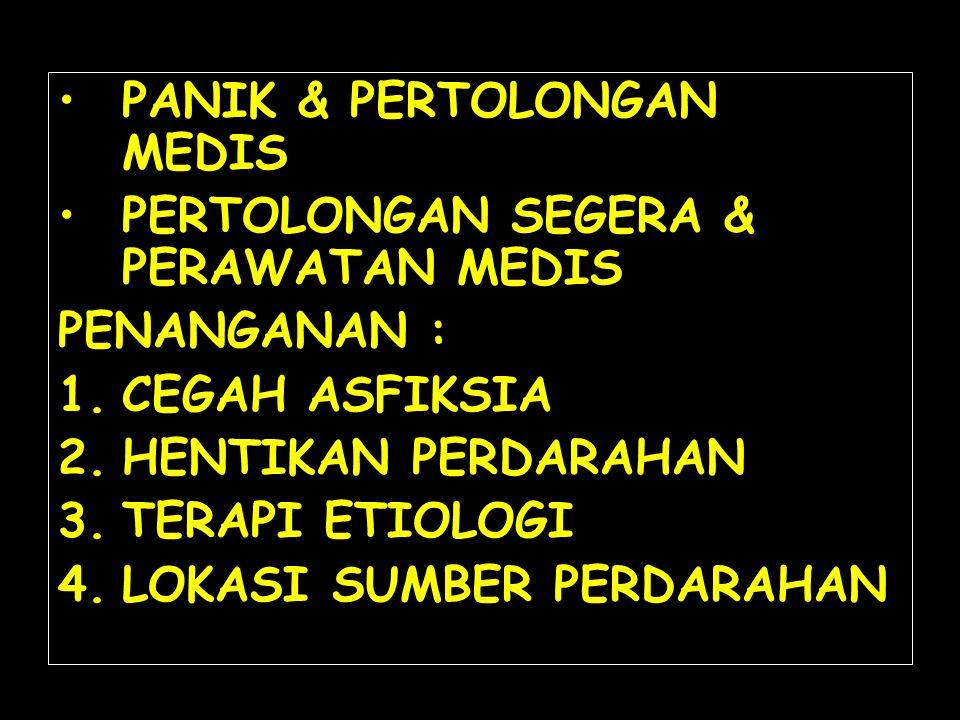 PANIK & PERTOLONGAN MEDIS