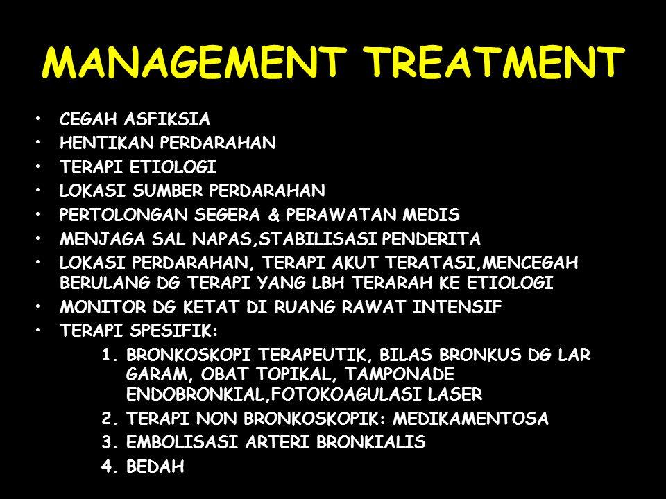 MANAGEMENT TREATMENT CEGAH ASFIKSIA HENTIKAN PERDARAHAN