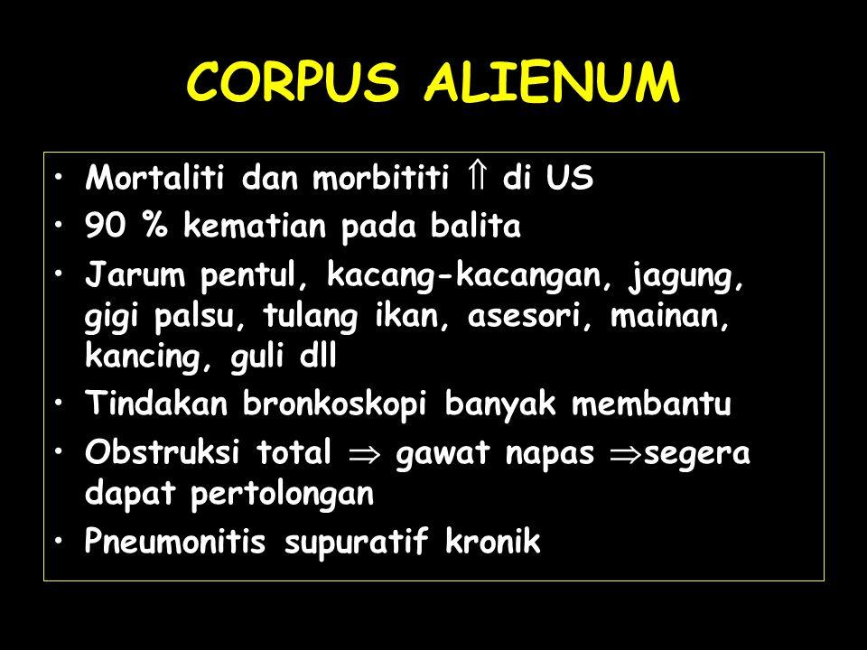 CORPUS ALIENUM Mortaliti dan morbititi  di US