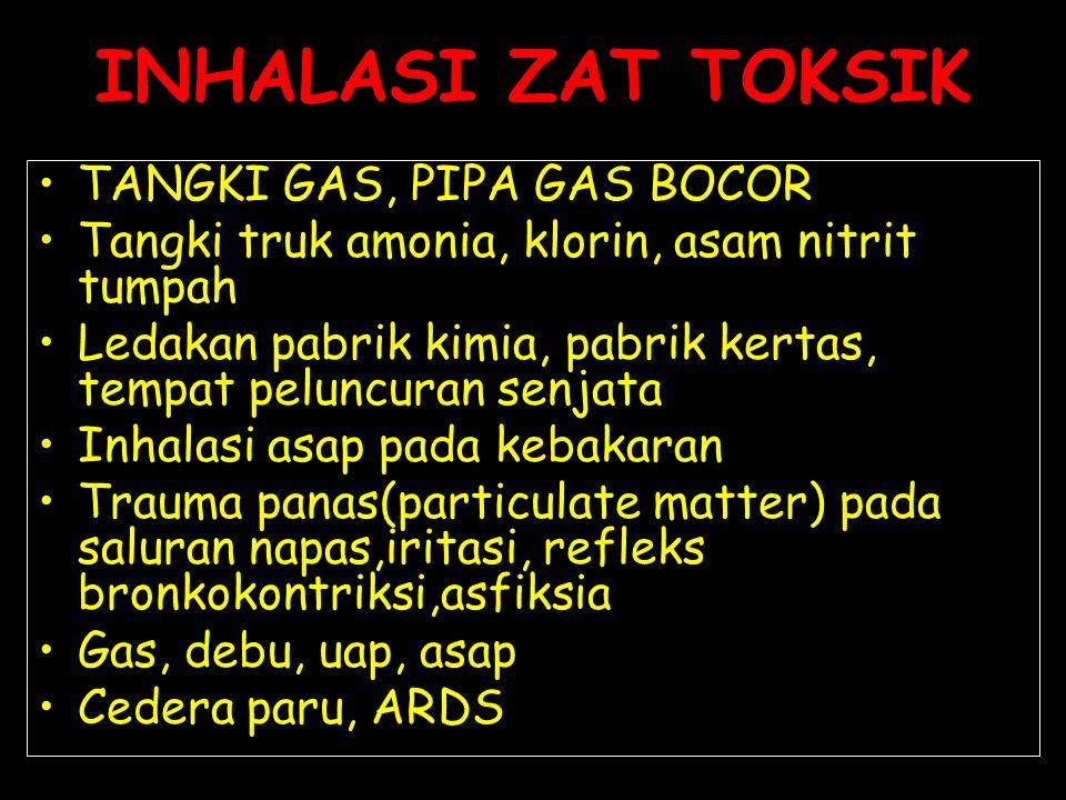 INHALASI ZAT TOKSIK TANGKI GAS, PIPA GAS BOCOR