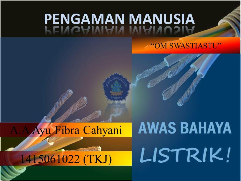 PENGAMAN MANUSIA A.A Ayu Fibra Cahyani 1415061022 (TKJ)