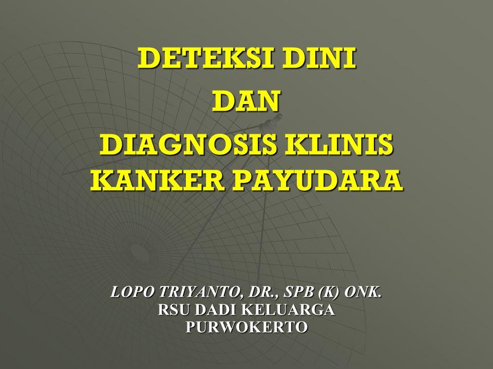 Lopo Triyanto, dr., SpB (K) Onk. RSU DADI KELUARGA Purwokerto