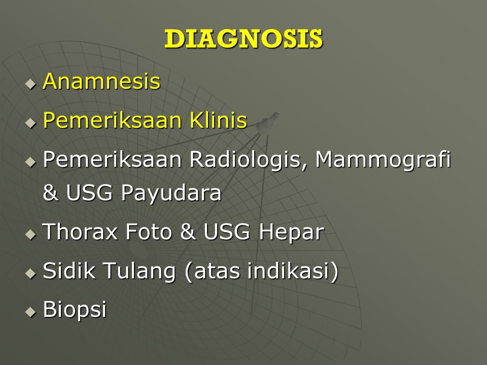 DIAGNOSIS Anamnesis Pemeriksaan Klinis