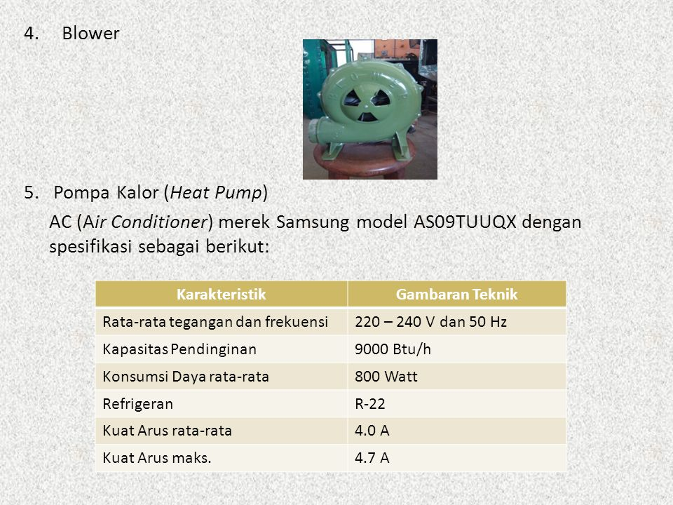 5. Pompa Kalor (Heat Pump)