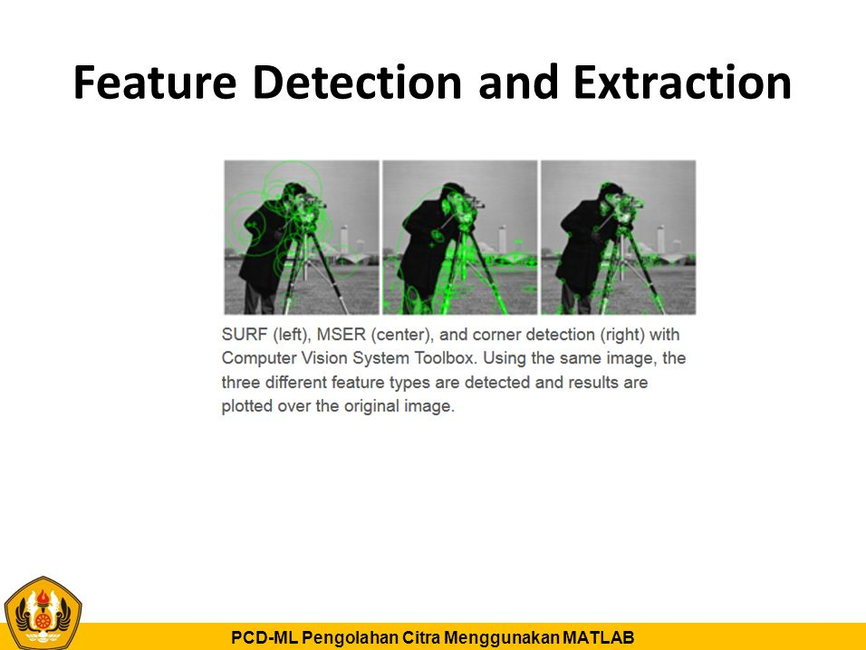 Feature Detection and Extraction
