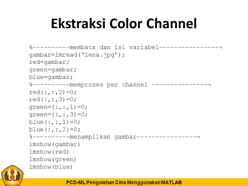 Ekstraksi Color Channel