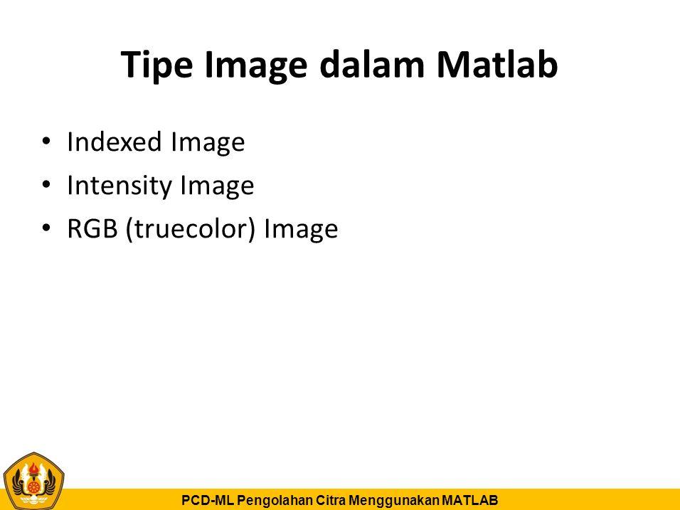 Tipe Image dalam Matlab