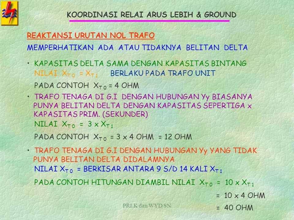 KOORDINASI RELAI ARUS LEBIH & GROUND