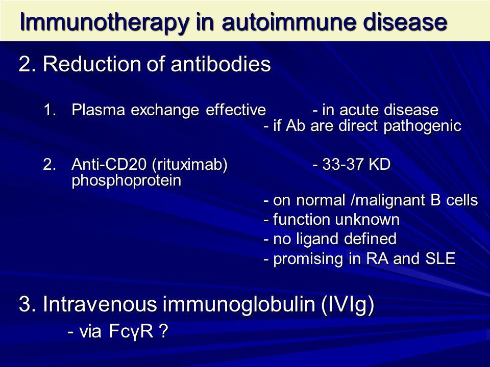 Immunotherapy in autoimmune disease