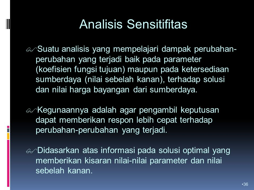 Analisis Sensitifitas