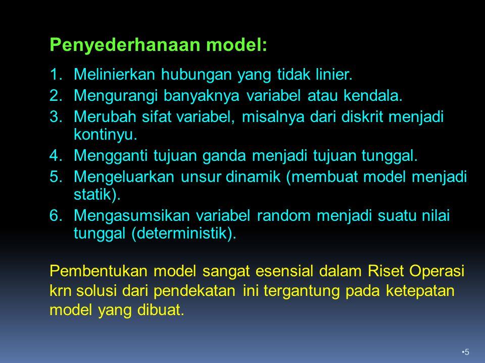 Penyederhanaan model:
