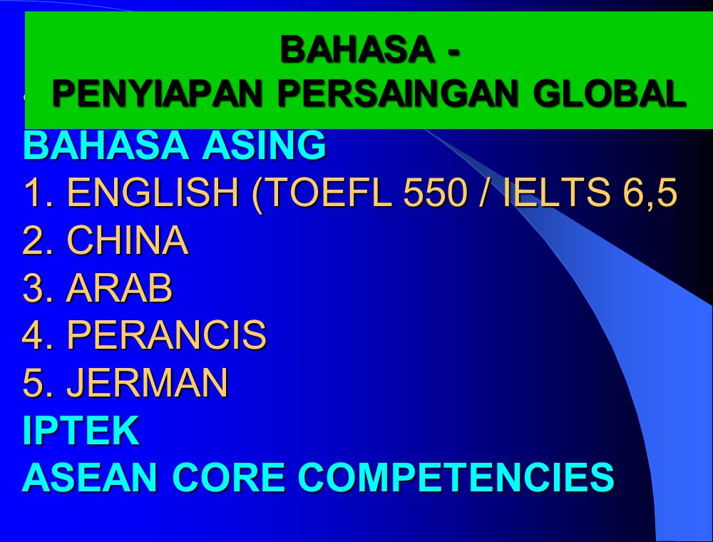 PENYIAPAN PERSAINGAN GLOBAL