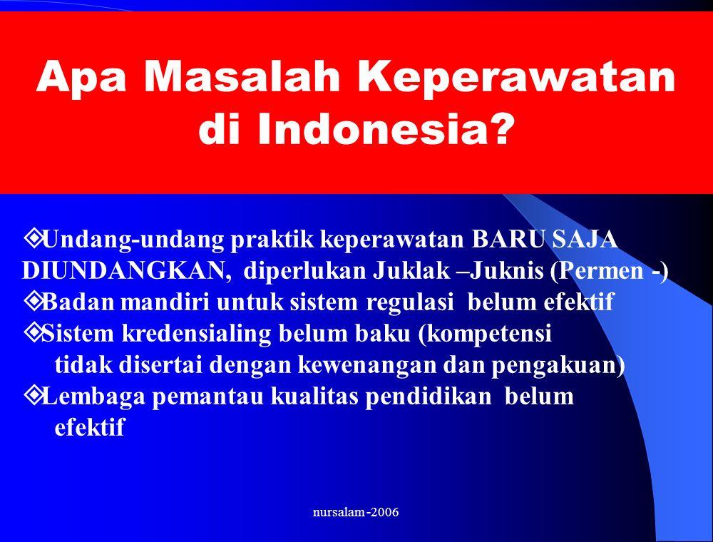 Apa Masalah Keperawatan di Indonesia