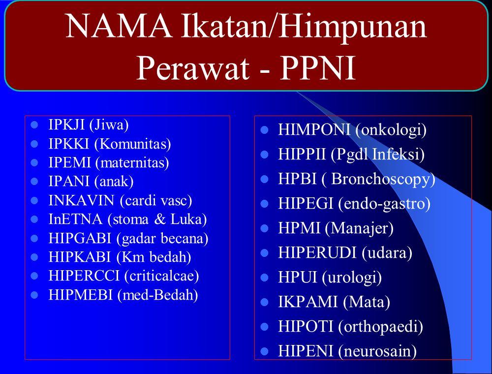 NAMA Ikatan/Himpunan Perawat - PPNI