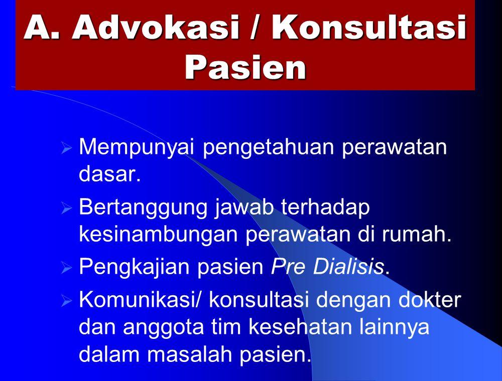 A. Advokasi / Konsultasi Pasien